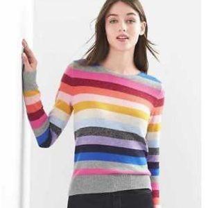 GAP crazy stripe crew neck sweater jumper merino